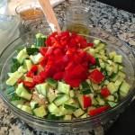 Summer Quinoa Salad underway