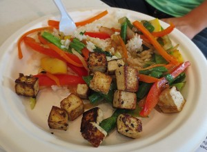 Seasonal Vegetable Stir-Fry with Rice & Optional Tofu