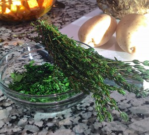 Fresh Thyme & Chopped Parsley | LCRC Grow Cook Learn
