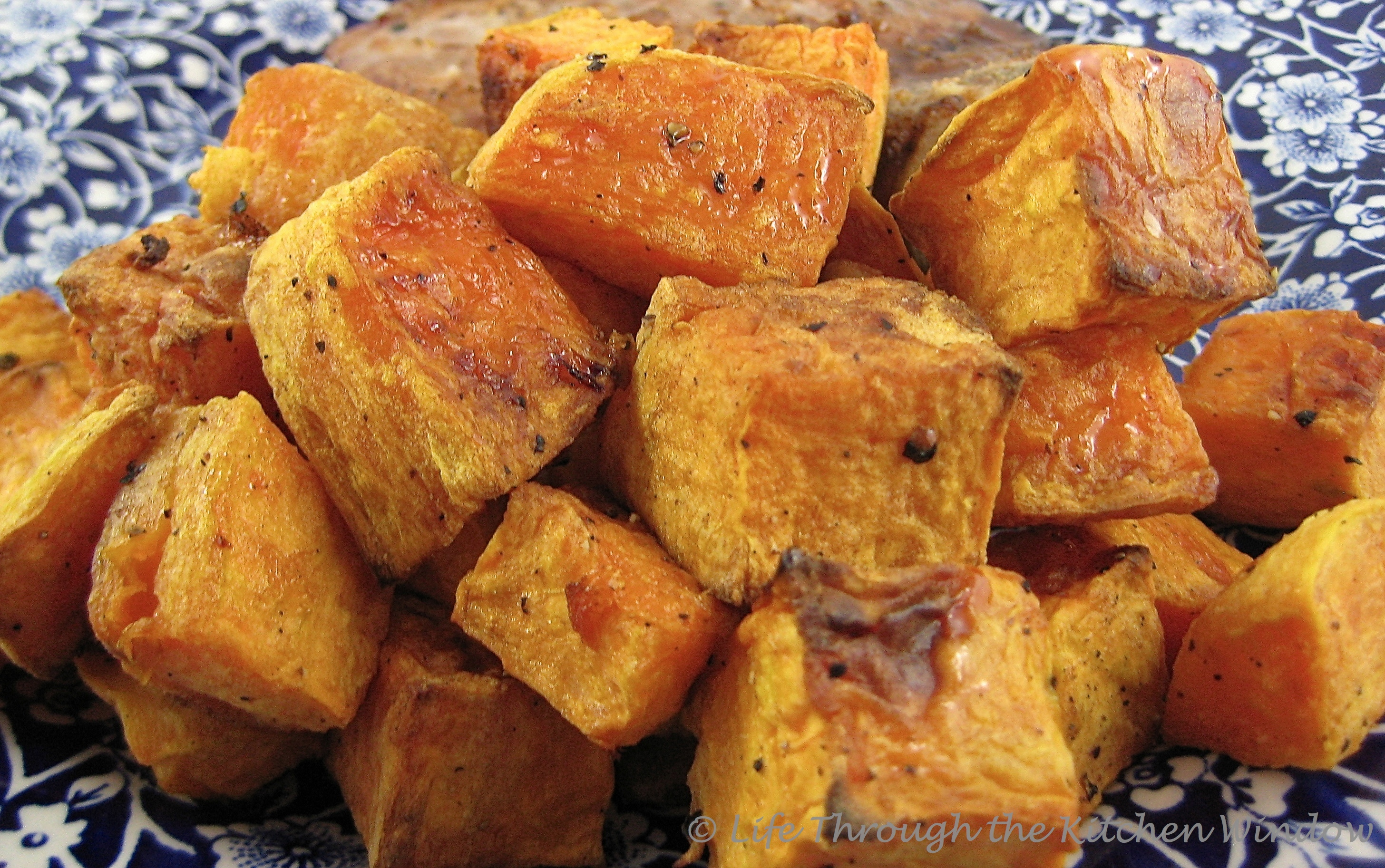 Caramelized & Luscious Roasted Sweet Potato | © Life Through the Kitchen Window.com