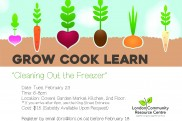 Grow Cook Learn poster Feb