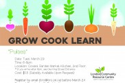 Grow Cook Learn poster March