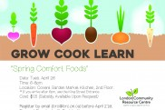 Edit Grow Cook Learn poster April